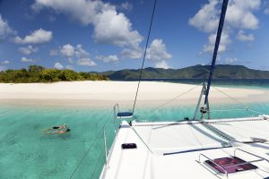 boating and snorkeling around Sandy Spit, British Virgin Islands