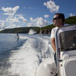 family charter vacation water ski