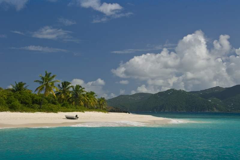 BVI white sand beach
