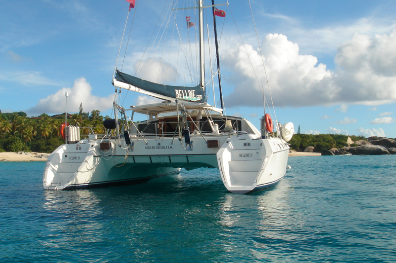 Belline ll bvi sailing catamaran