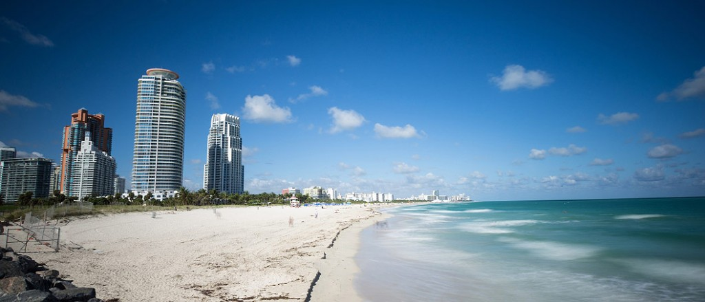 white sand beach in Miami