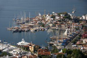 Turkish Gulet in Old Town Marina Marmaris