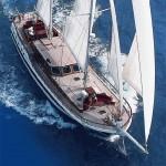 Turkish Gulet under sail