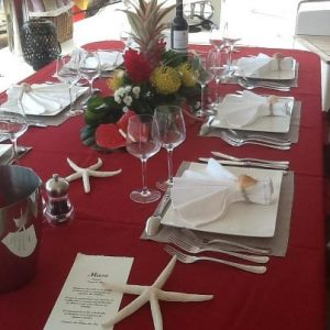 Table set on your yacht in New England