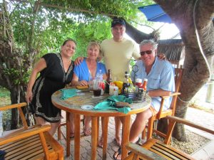 group lunch in the BVI