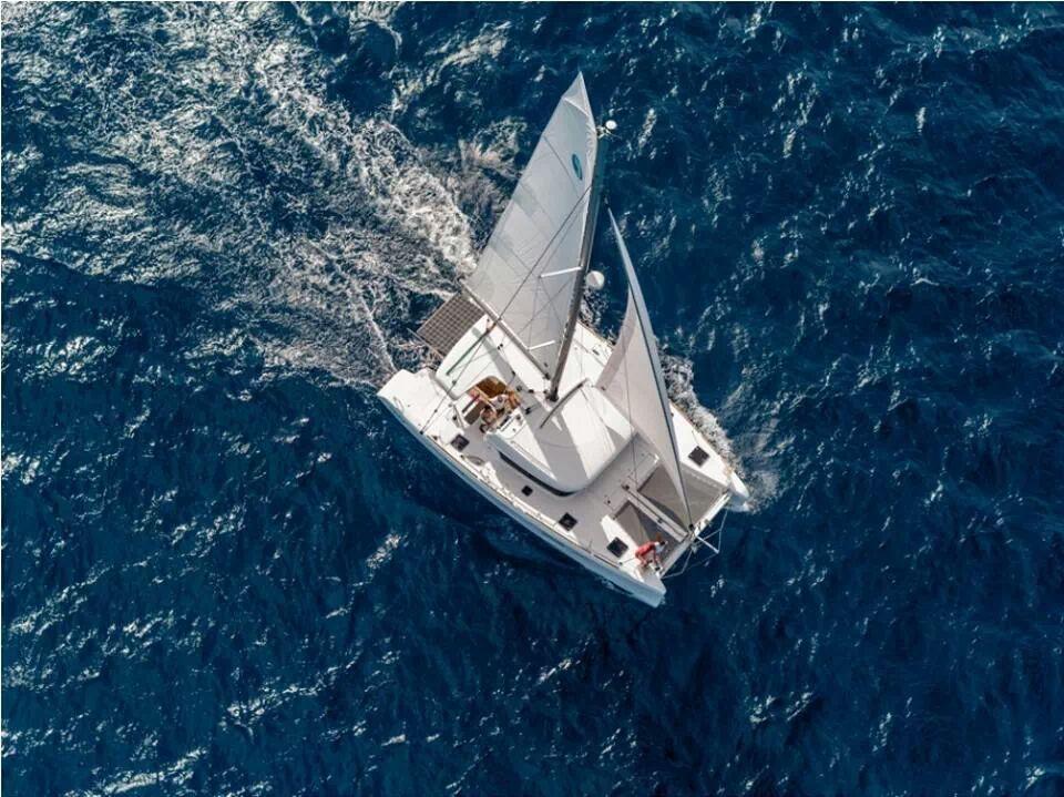 catamaran aerial view