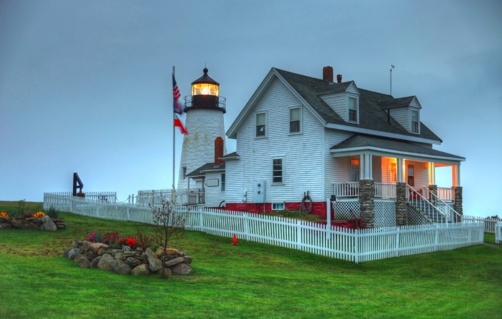 Lighthouse in New England waterways