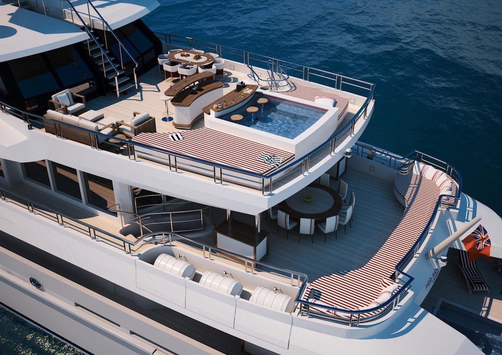 Mega Yacht stern