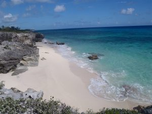 Solitary beach on Eleuthera
