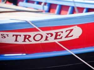 wooden boat in Saint Tropez France