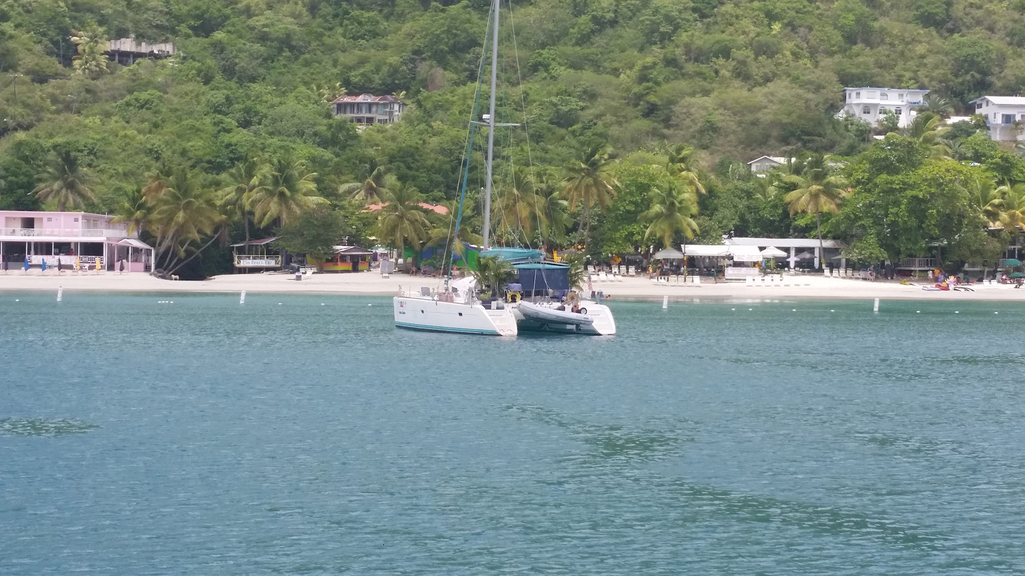 sailboat in the British Virgin Islands