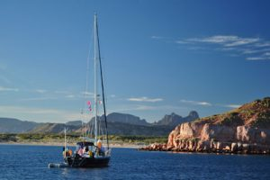 Sailboat in Baja bay