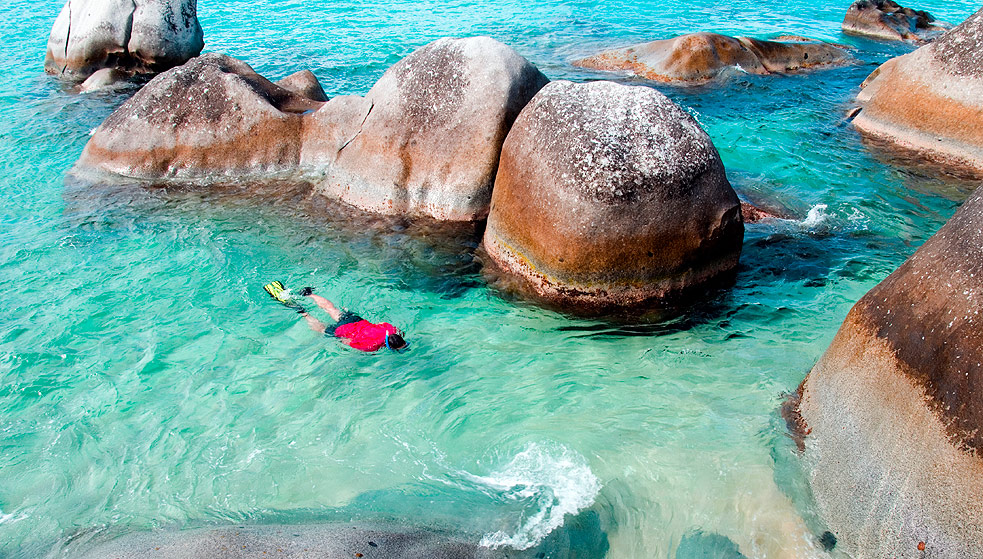 Snorkeling the Baths in BVI