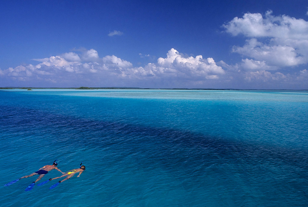 Couple Snorkeling in the Bahamas