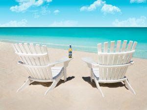 Kalik beer on beach