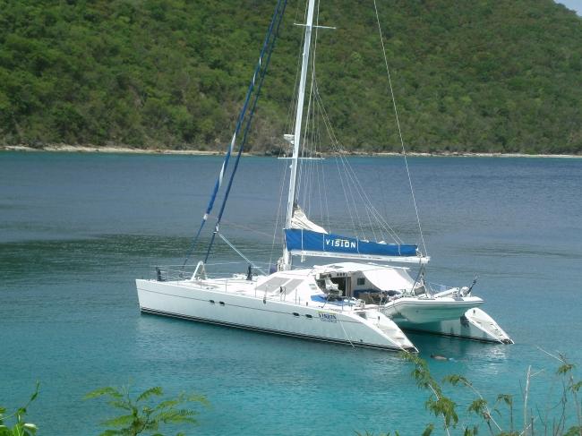 vision 57 sailing catamaran