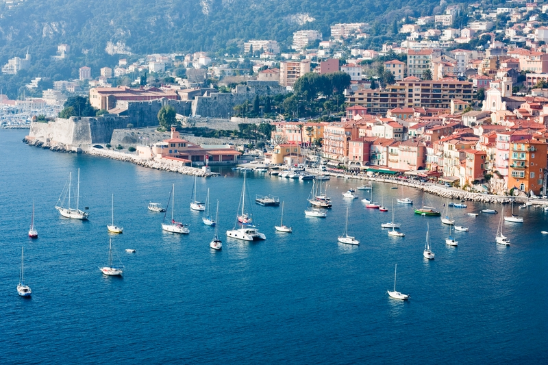 yachts  docked in sea of   riviera
