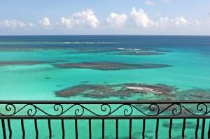 tropical restaurant balcony view