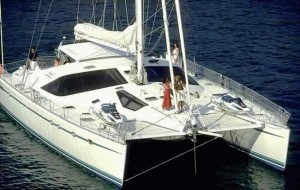 bonaventura catamaran above