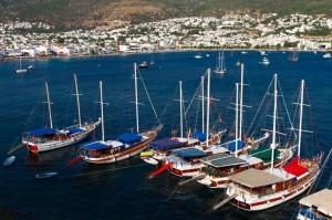 Turkish Gulets at anchor